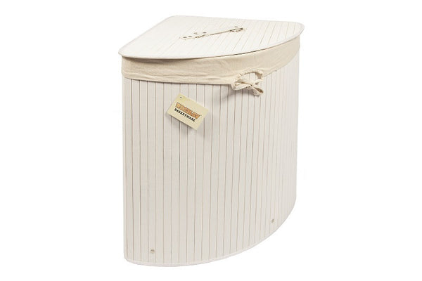 Kobe Bamboo Corner Laundry Storage Bin - GSR Decor