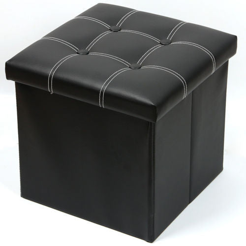 Ottawa Faux Leather Ottoman Folding Storage Seat