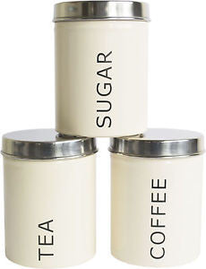 Andes Tea, Coffee, Sugar Set of 3 Kitchen Storage Canisters