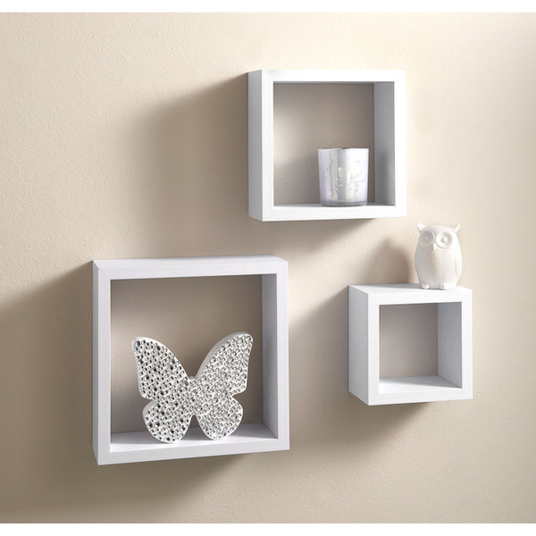 Vermont Set of 3 Cube Shelves - GSR Decor