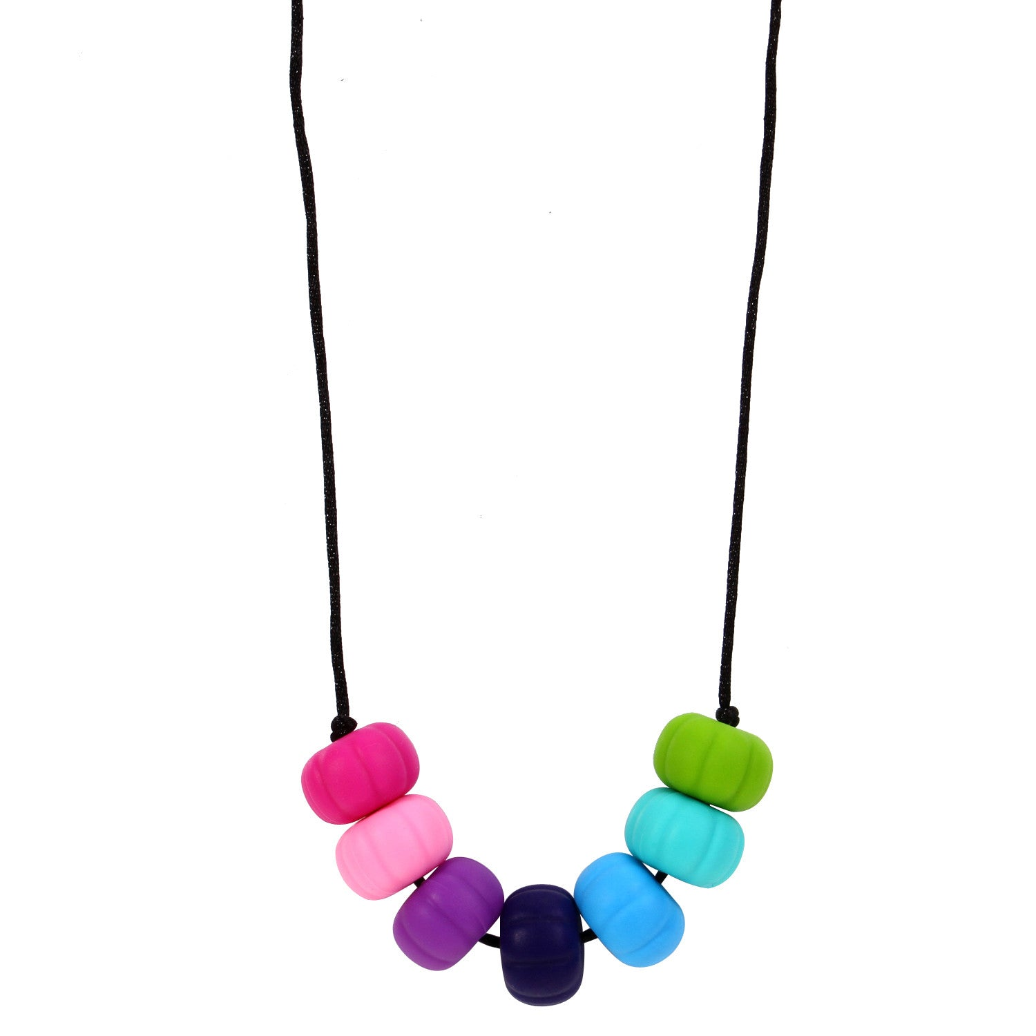 MyBoo Autism Sensory Chewable Chunky Multi Colored Beaded Necklace