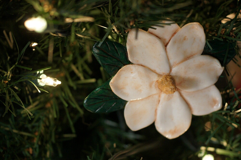 New Product!  Extra Large Magnolia Ornament