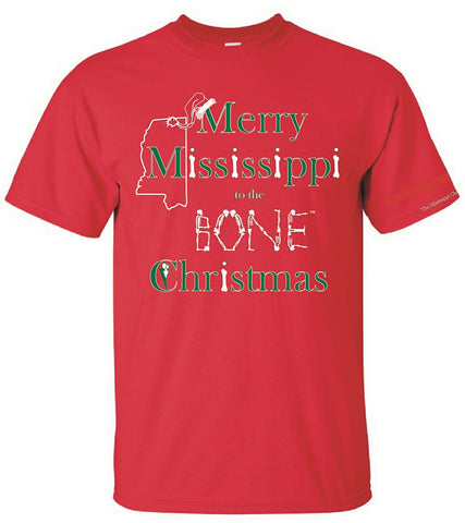Mississippi To The Bone Christmas Tee