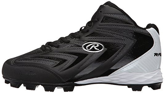 Rawlings Renegade Mid Boys Baseball Cleat (Black)