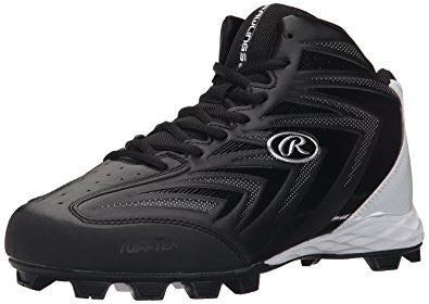 Rawlings Renegade Mid Mens Baseball Cleat (Black)