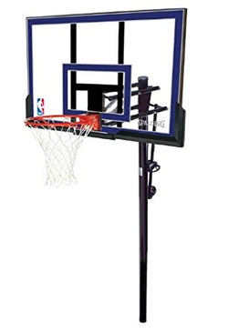 spalding 50 inch acrylic inground basketball system