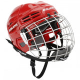 Bauer ims 5.0 hockey helmet red