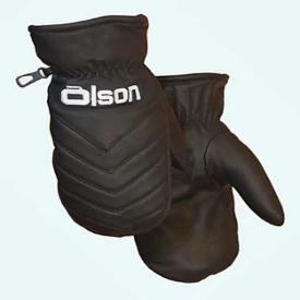 Olson Black Leather Lined Curling Mitts