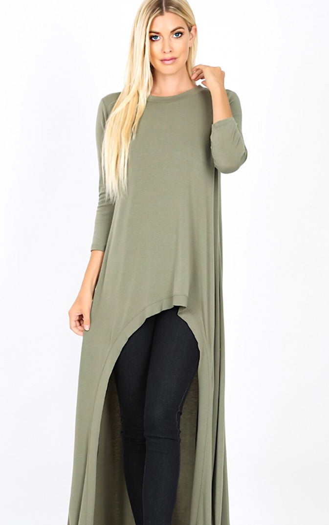 Steal The Show Sage High Low Tunic, S-3X *DOORBUSTER*