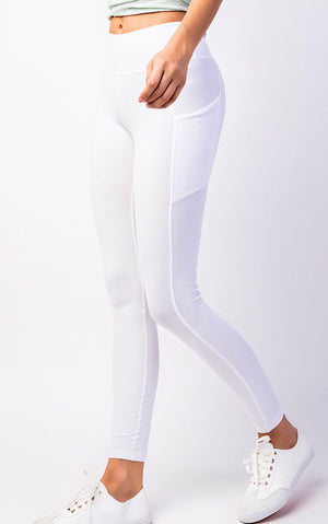 Life's A Breeze Athletic White Butter Leggings, S-3X!!