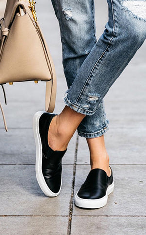 Keep Steppin' Black  Sneakers