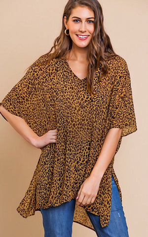 Give Me More Animal Print Tunic