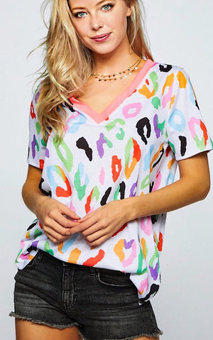 Bright Idea Cheetah Print Top