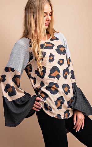 Wild And Free Leopard Print Top