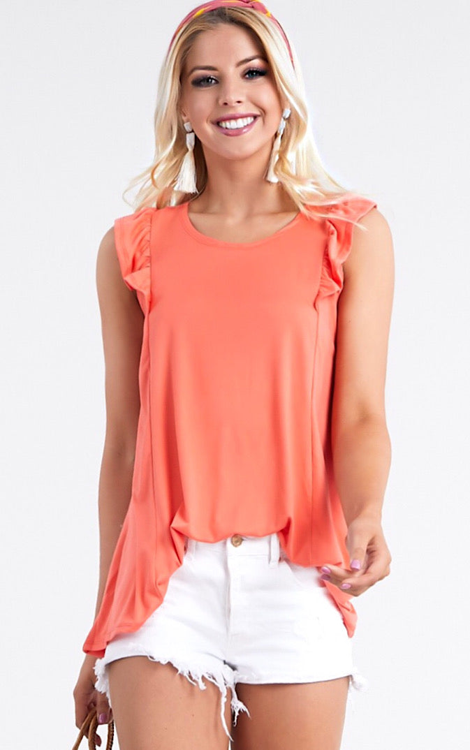 Summer Fun Coral Tank, S-3X! *MONDAY NIGHT STEAL!*
