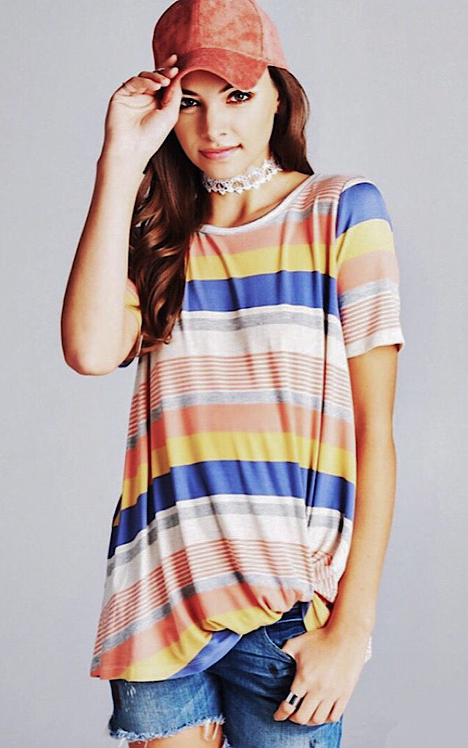 Colorful Sunset Striped Tee