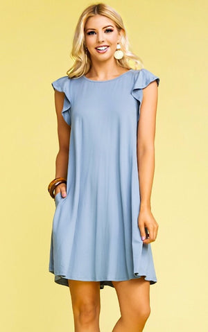 Perfect Sense Blue Dress, S-3X!