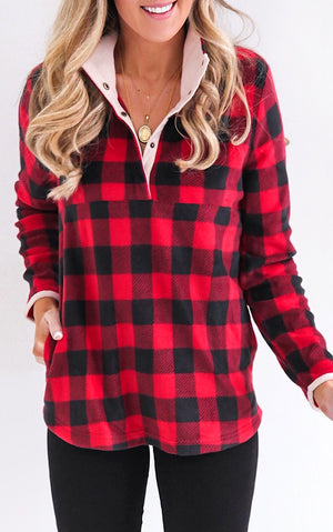 Mix & Mingle Buffalo Plaid Pullover