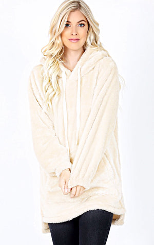 Soft And Cuddly Ivory Sherpa Pullover, S-3X! *DOORBUSTER*