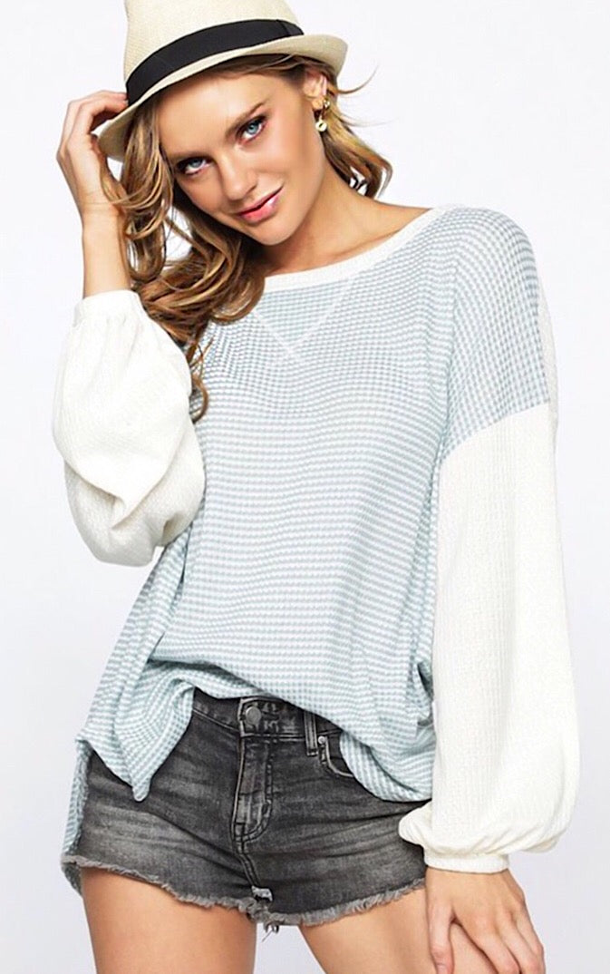 Always A Good Day Mint Knit Top