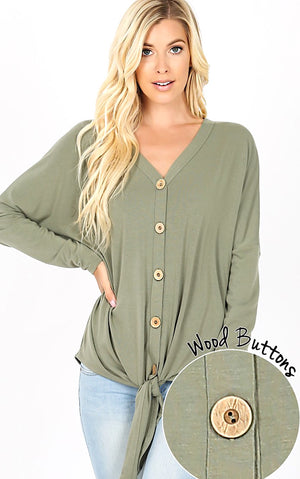 Cozy Cabin Olive Knit Top, S-3X *WEEKLY DEAL*