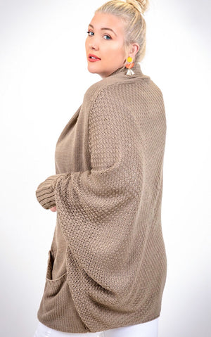 My Happy Place Mocha Cardigan, S-3X!