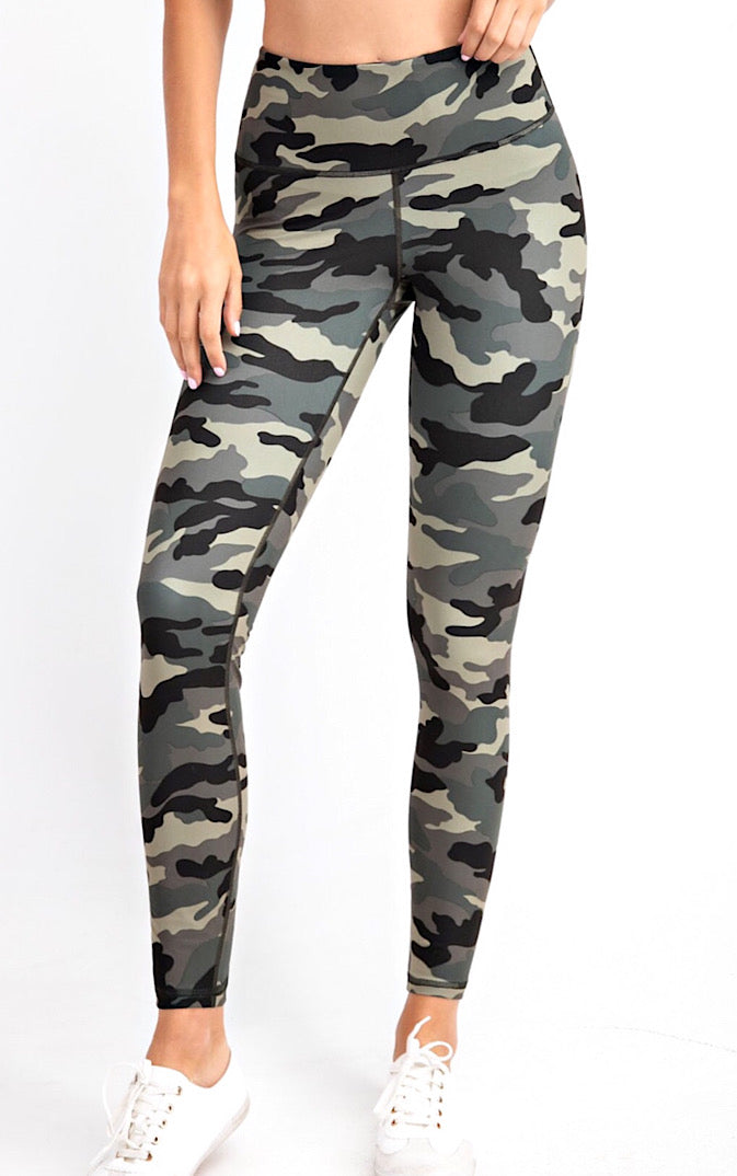 Life's A Breeze Olive Camo Butter Leggings, S-3X!!