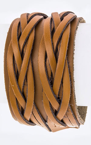 Knotty By Nature Genuine Leather Cuff