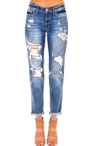 Best EVER Boyfriend Jeans Medium/Light Wash
