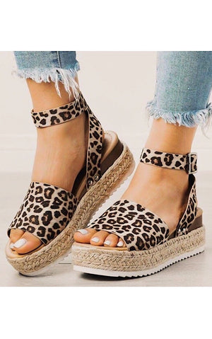 Making Moves Cheetah Espadrille Sandals