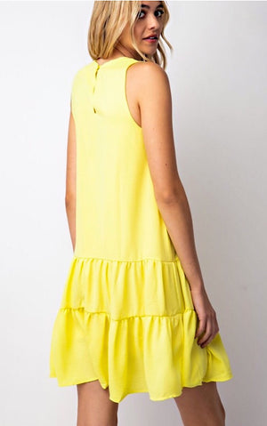Sunny Vibes Only Yellow Dress