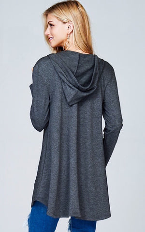 Life of Leisure Charcoal Grey Tunic, SMALL & MED