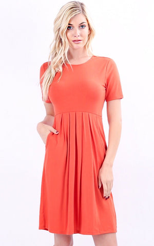 Feeling Pretty Coral Knit Dress, S-3X! *WEEKLY DEAL*
