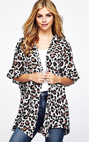Cat's Meow Leopard Kimono, SIGN UP FOR RESTOCK!