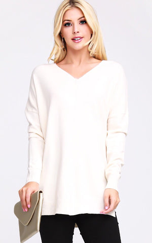 Finest Hour Ivory Sweater, 1X-3X *WEEKLY STEAL*