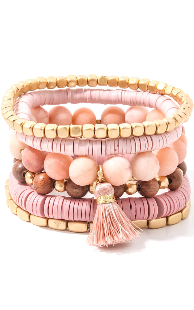 Cotton Candy Pink Bracelet Stack