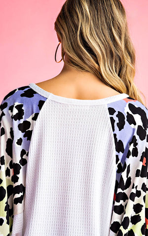 Wild About Spring Cheetah Sleeve Top