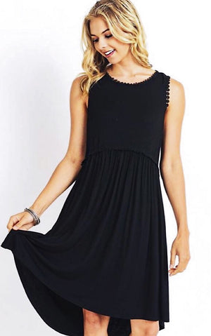 Take You Anywhere Black Tank Dress, RESTOCKED!