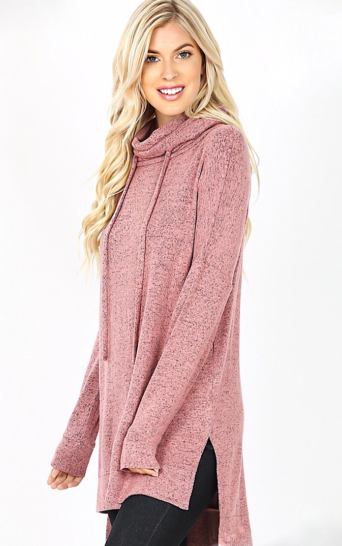 Cozy & Carefree Dusty Rose Pullover, 1X-3X
