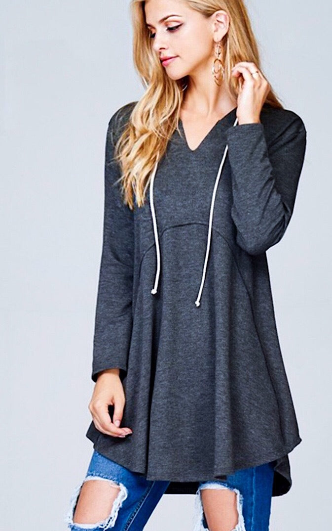 Life of Leisure Charcoal Grey Tunic, RESTOCKED!