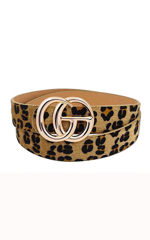 Follow Me Faux Leopard Belt