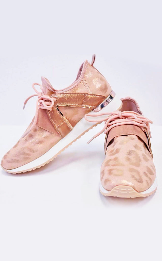 Making Me Blush Leopard Sneaker, 5.5, 6, 6.5 in stock!!