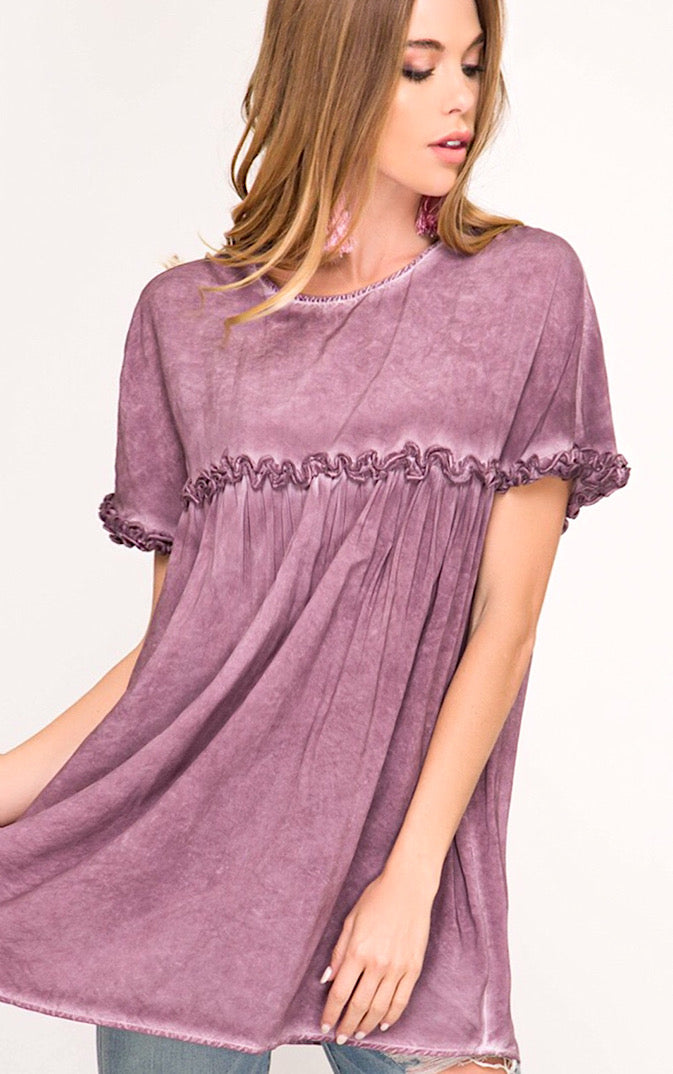 Make You Mine Plum Babydoll Top