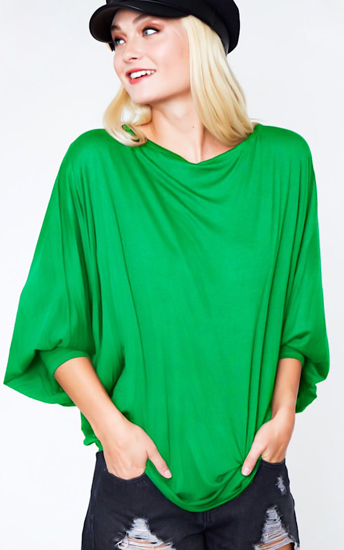 Saturday Vibes Green Knit Top