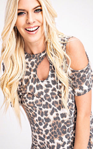 Into The Wild Leopard Print Top