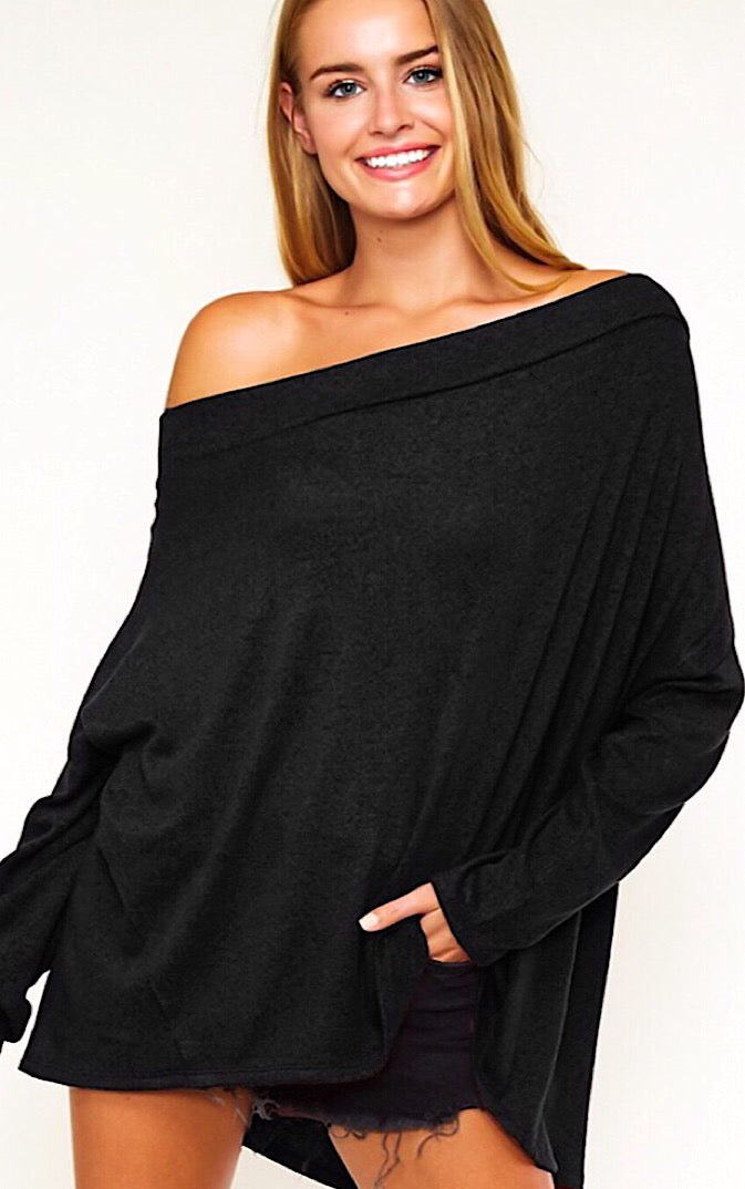 Cuddle Weather Black Sweater