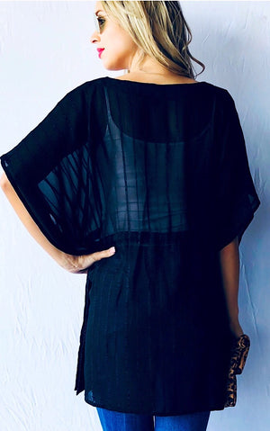 Into The Sunset Black Tunic