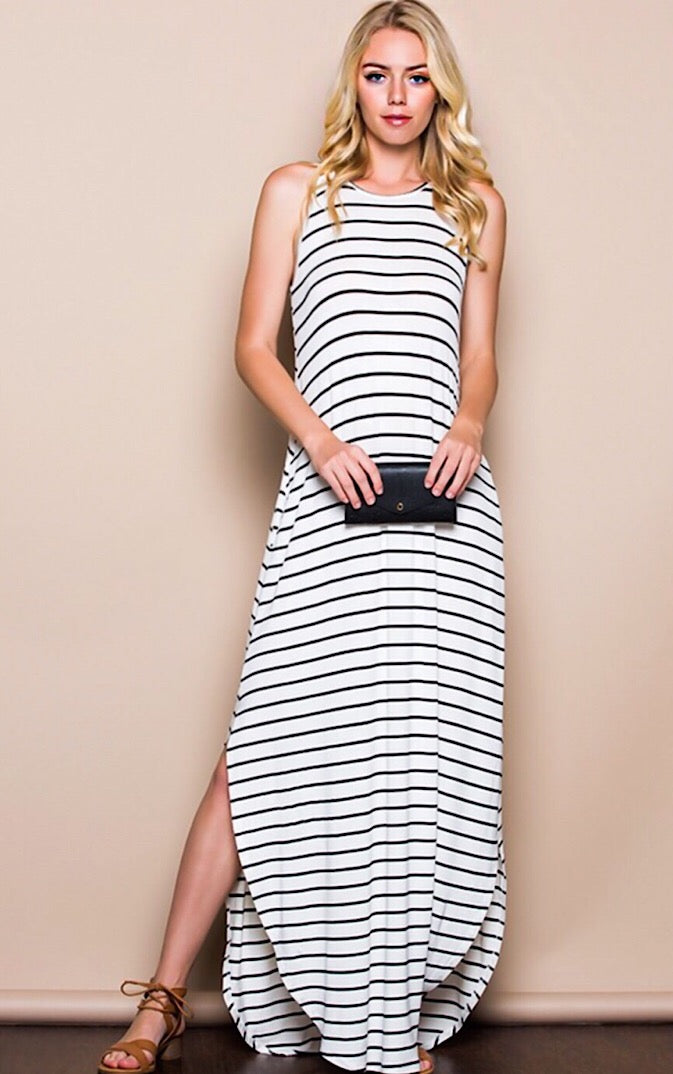 Summer Nights Ivory Maxi Dress