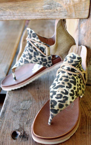 Animal Attraction Leopard Sandals, PRE-ORDER SHIPS 5/27-6/17!!