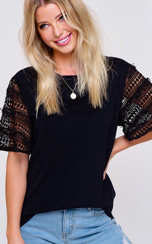 All Day Chic Black Top, SMALL left!